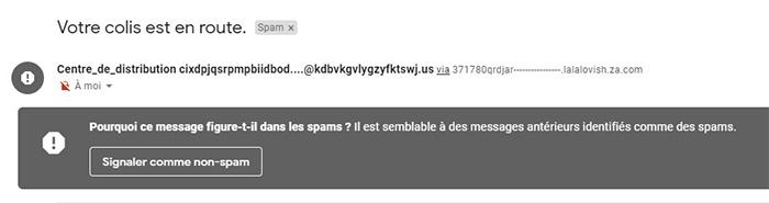 domaines de mails frauduleux