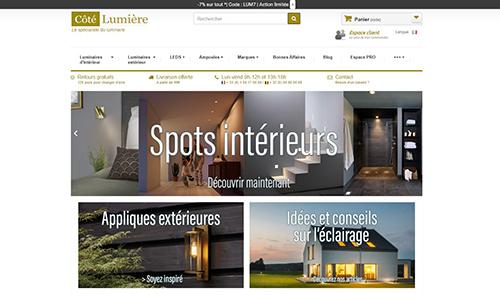 Site ecommerce Côté Lumière